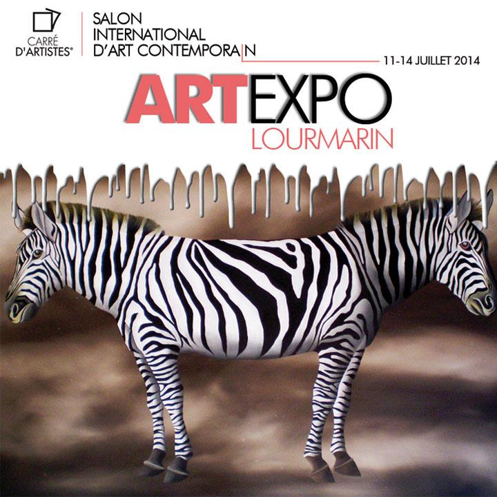 Salon international d'art contemporain à Lourmarin avec la galerie Carré d'Artistes 11-14 Juillet 2014