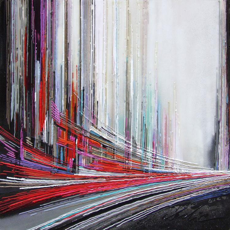 80 x 80 cm huile/toile Réf: URB0148