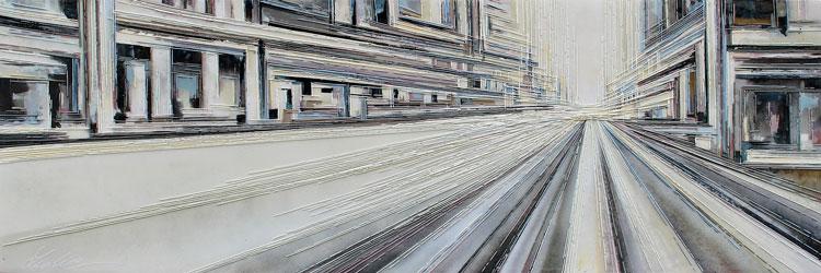60x180 cm huile/toile/résine Réf: URB0270